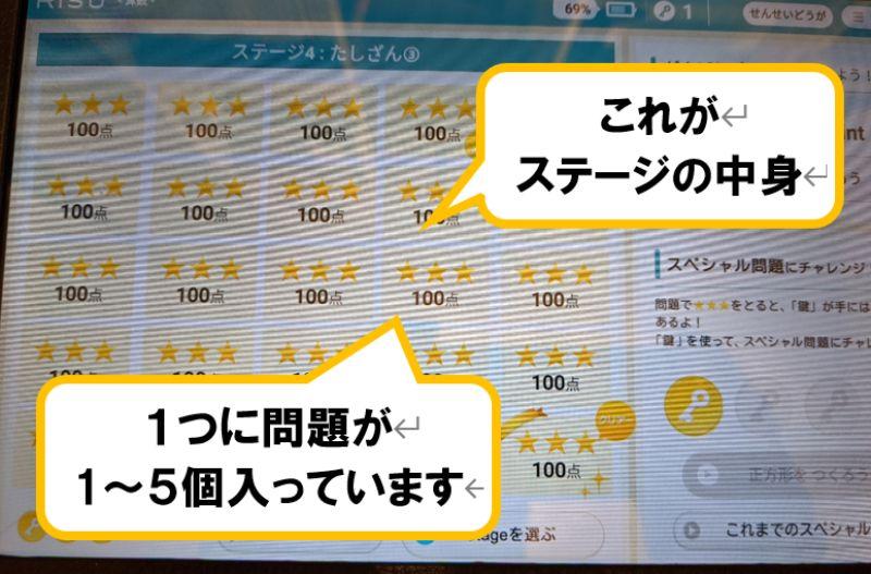 RISU算数のステージの画像